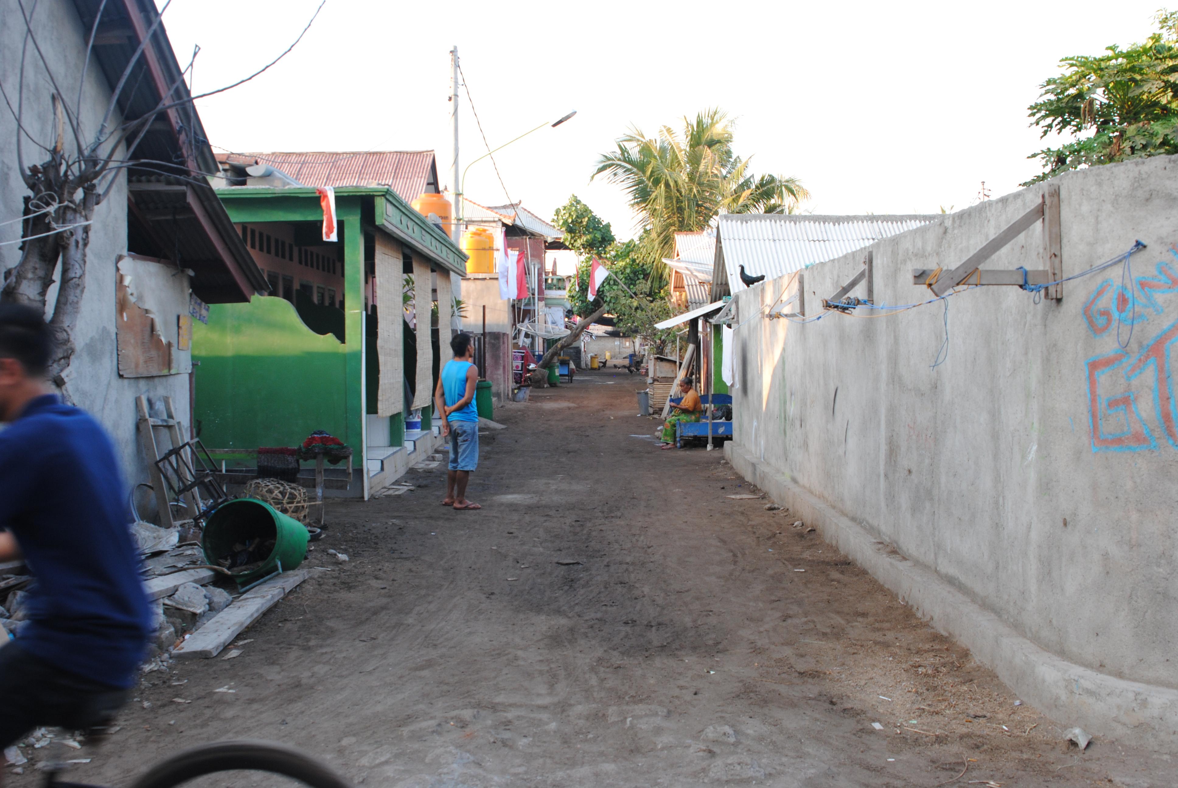 In den Straßen von Gili Trawangan