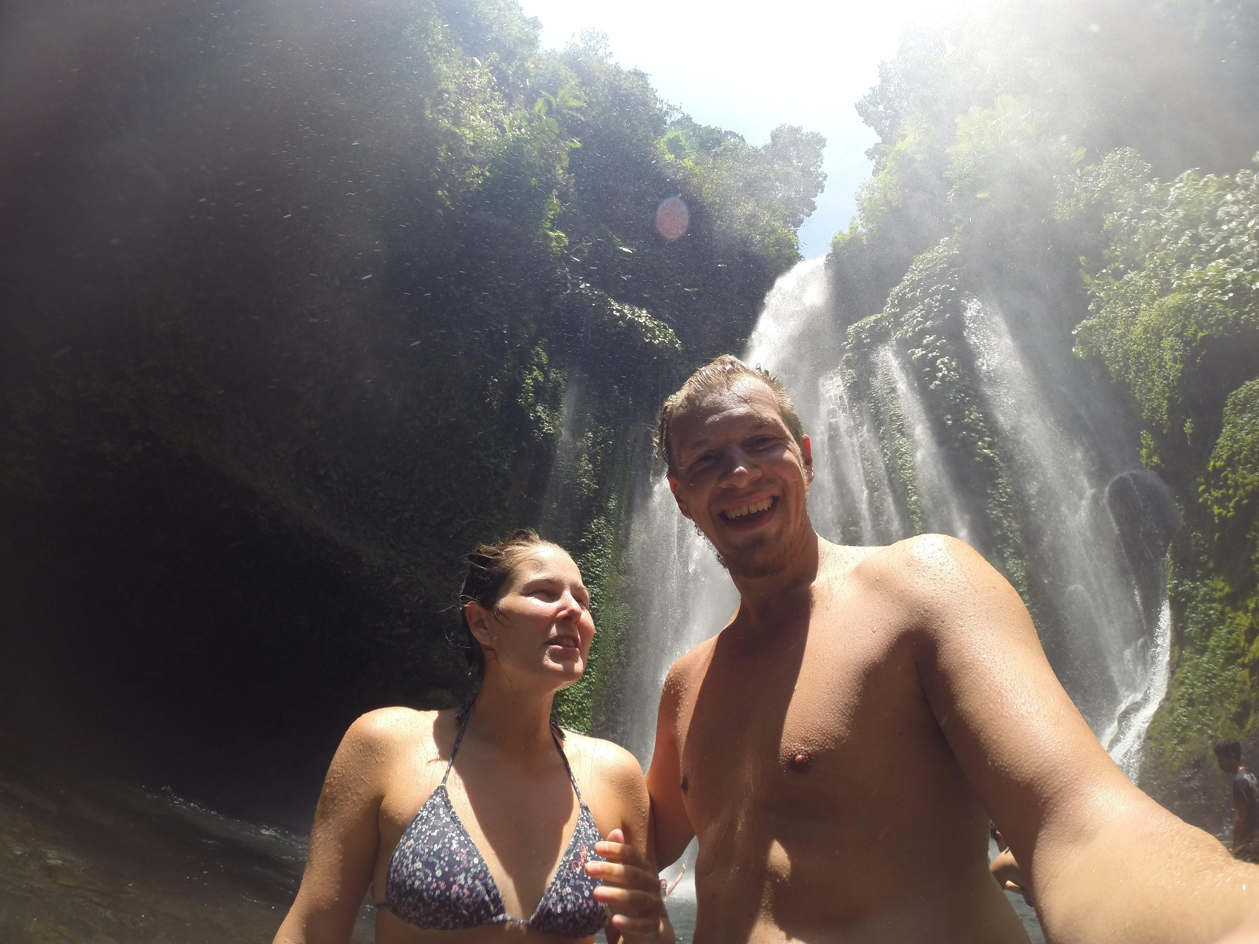 Wartete der Wasserfall auf uns.