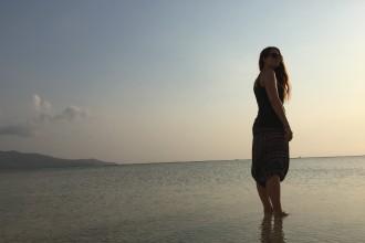 Letzter Abend am Strand.