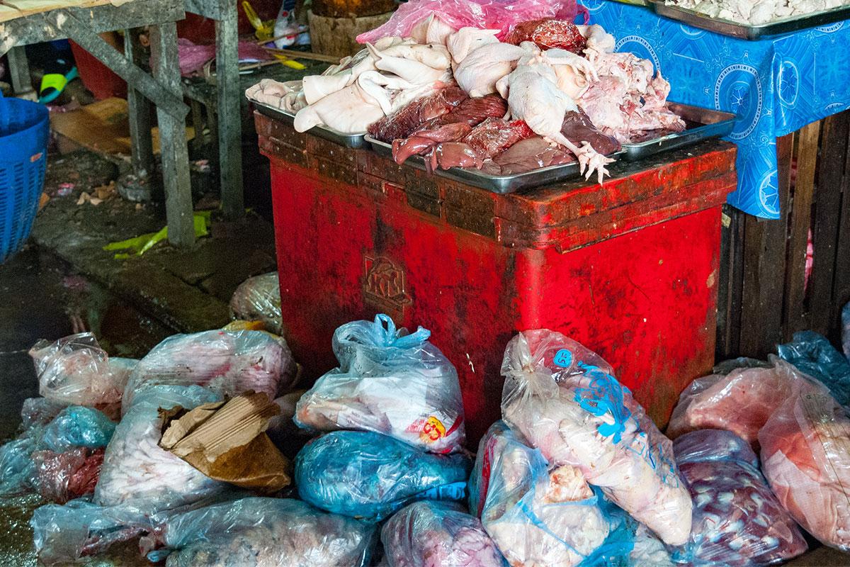 Abgepacktes Fleisch zum mitnehmen.