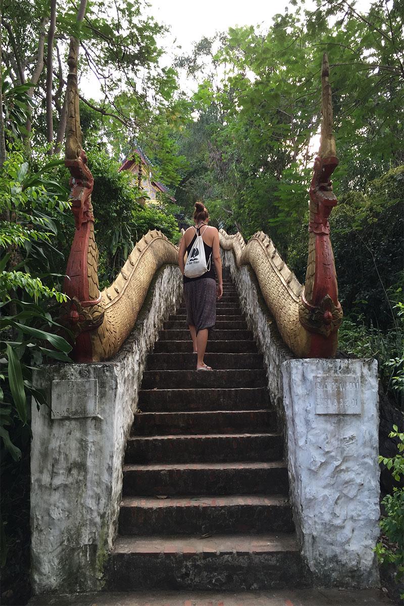 Lee-Drachentreppe-Tempelberg-Luang-Prabang-Laos