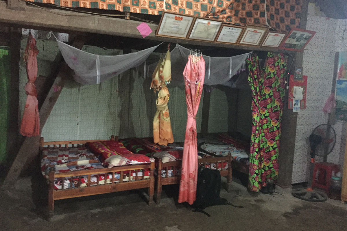 Unsere Hmong-Unterkunft für die Nacht.