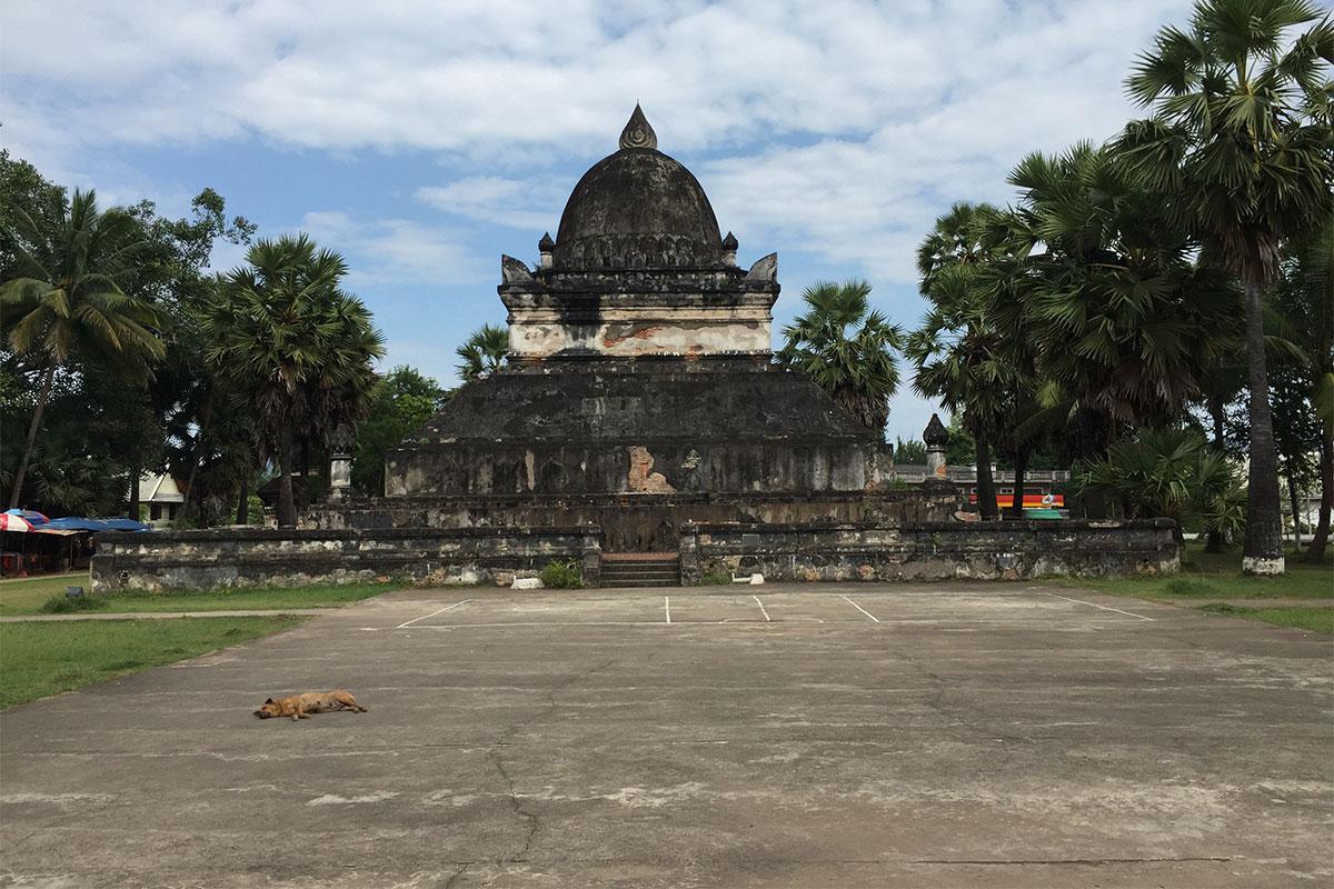 Den ältesten Tempel in Luang Prabang besuchen.
