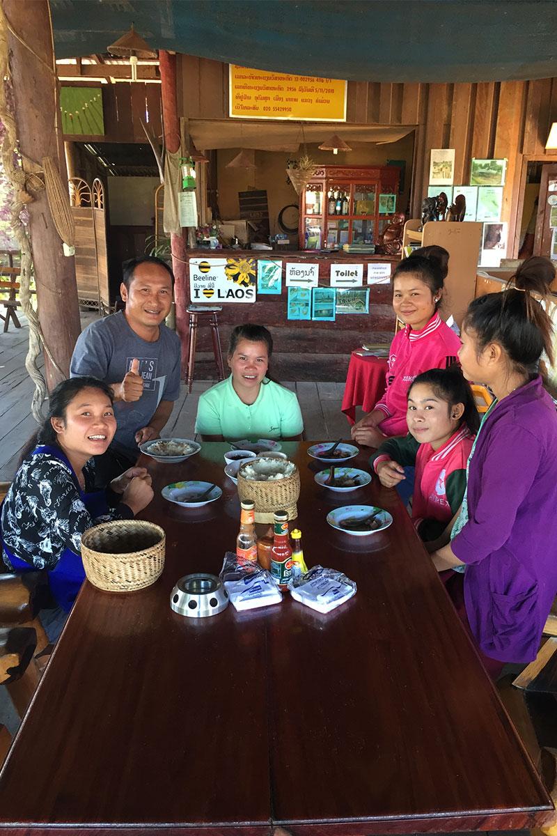 Die Gastfamilie im Sabaidee Guesthouse