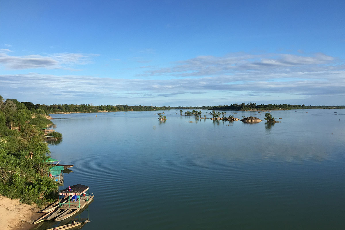 Flusspanorama-Laos-Viertausend-Inseln