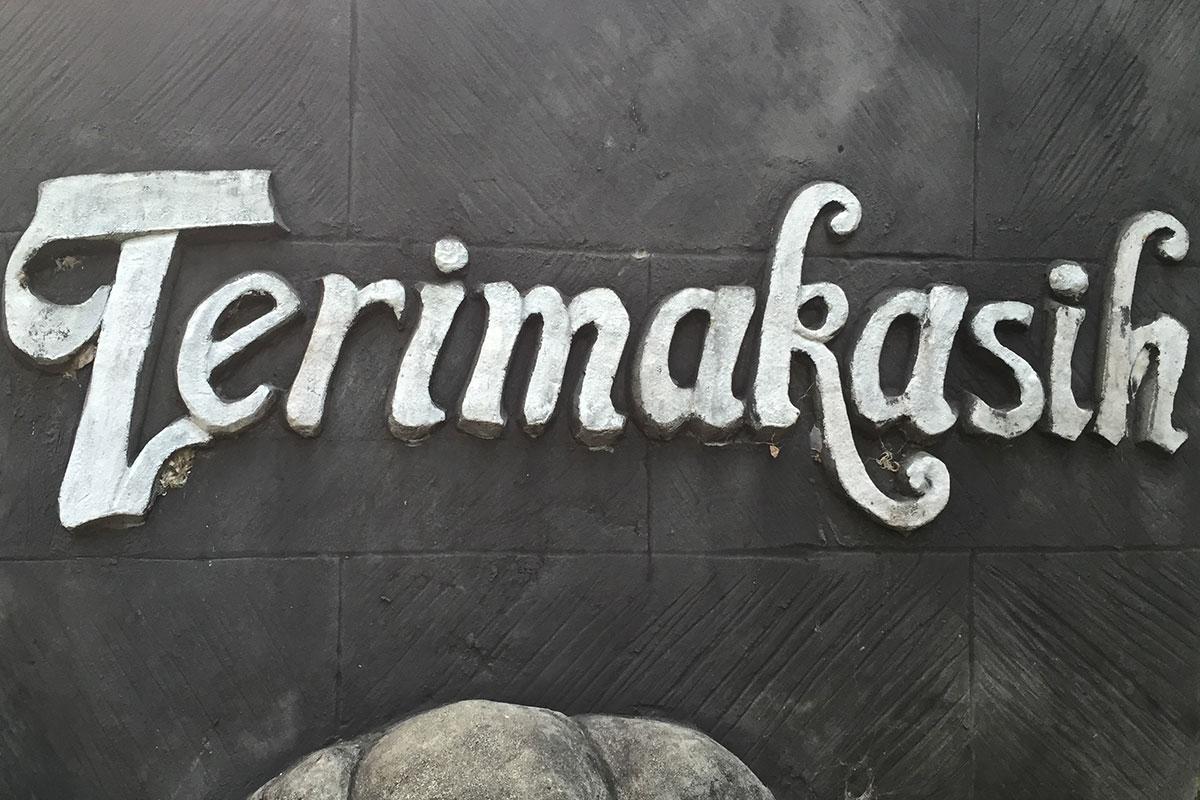 Danke auf Balinesisch.
