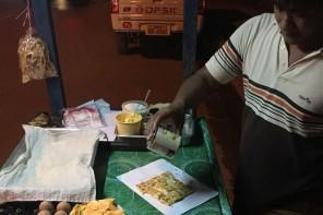 Laotisch frittierte Bananenpfannkuchen