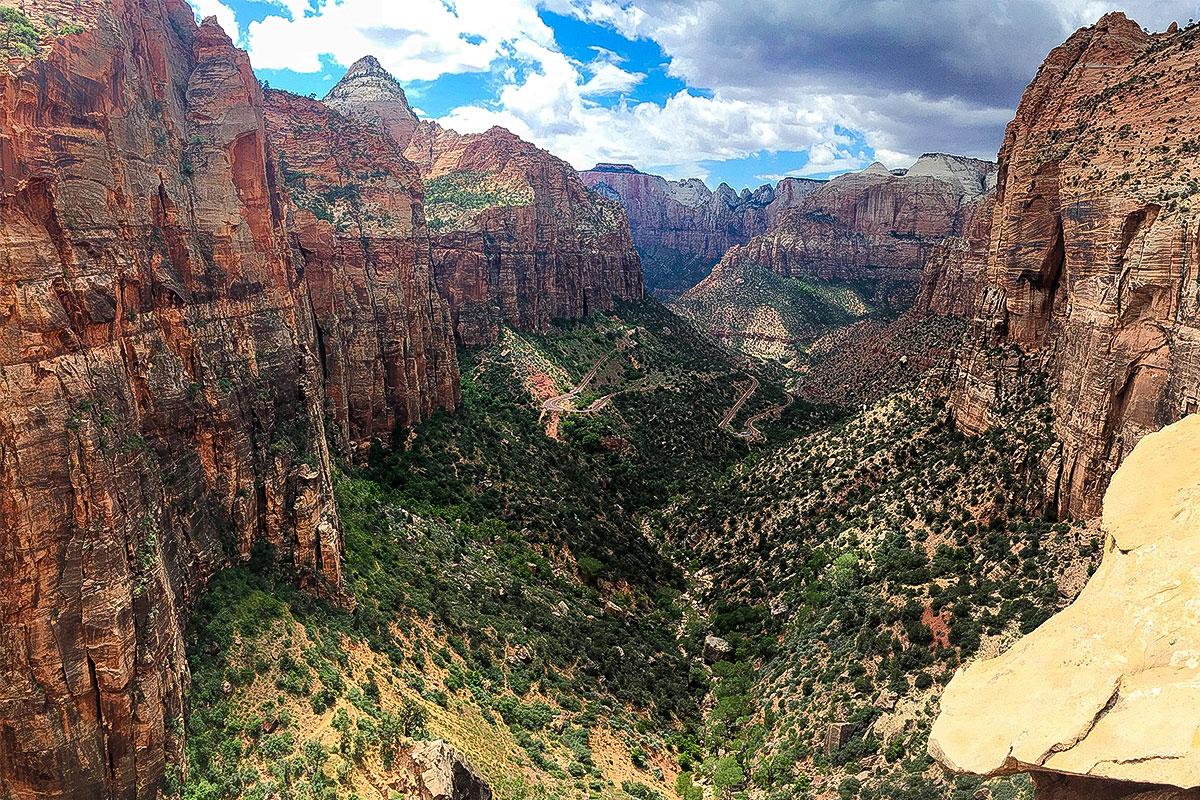 Der Zion Nationalpark bietet eine unglaublich geile Kulisse.