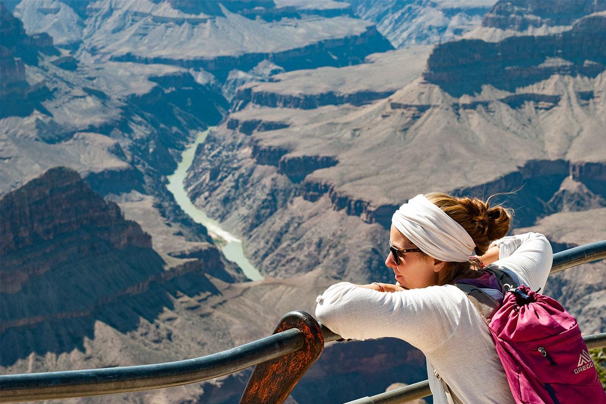 Man könnte stundenlang in den Grand Canyon schauen.