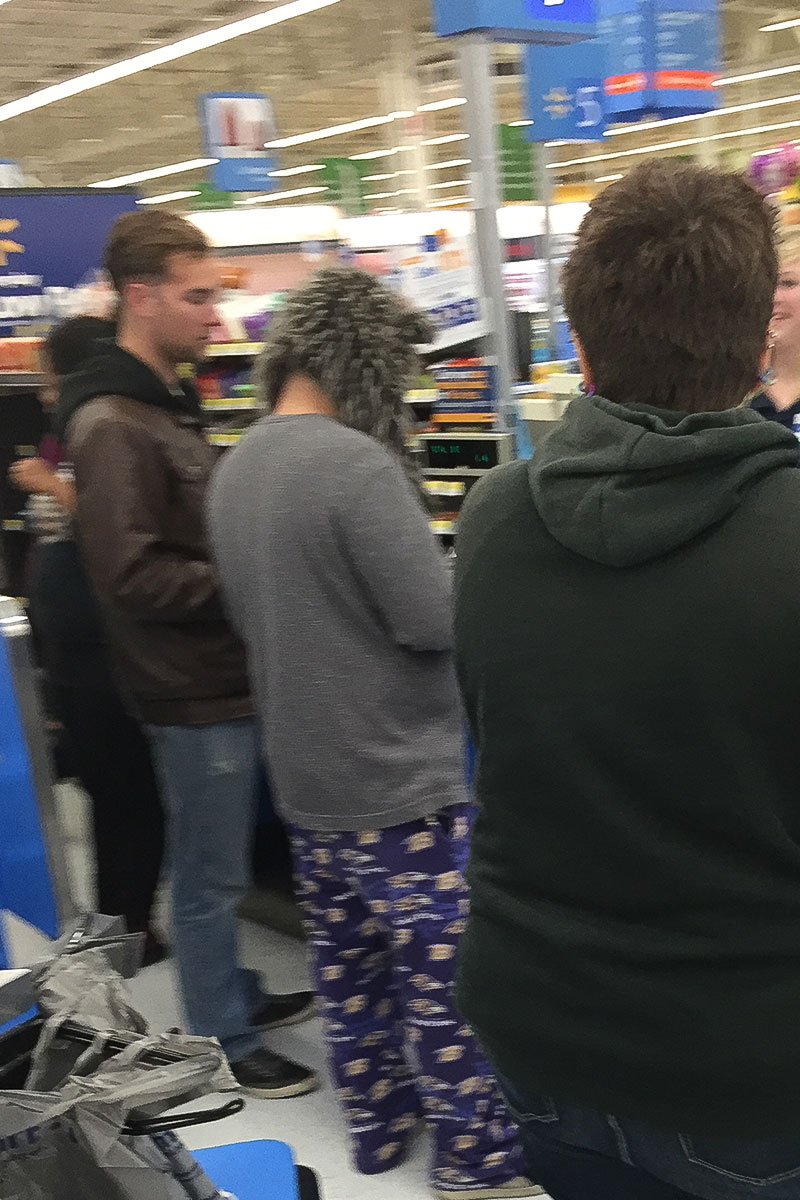 People at Walmart.
