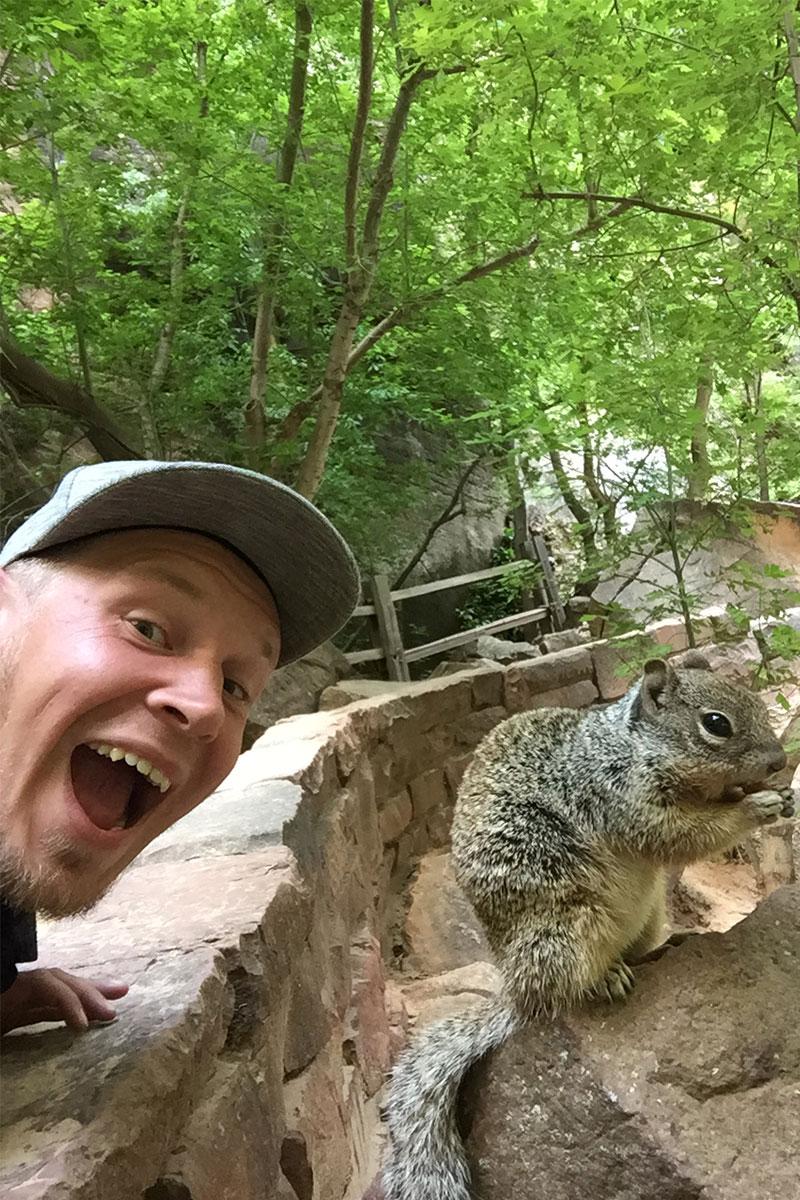 Eichhörnchenselfie!