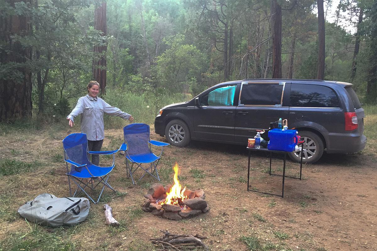 Unser boondocking-Platz bevor es in den Yosemite ging.