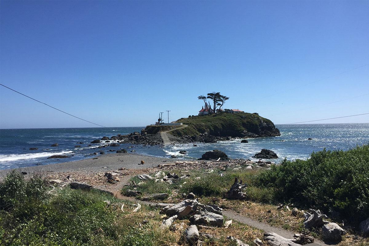 Das Battery Point Lighthouse ist nur bei Ebbe zu erreichen.