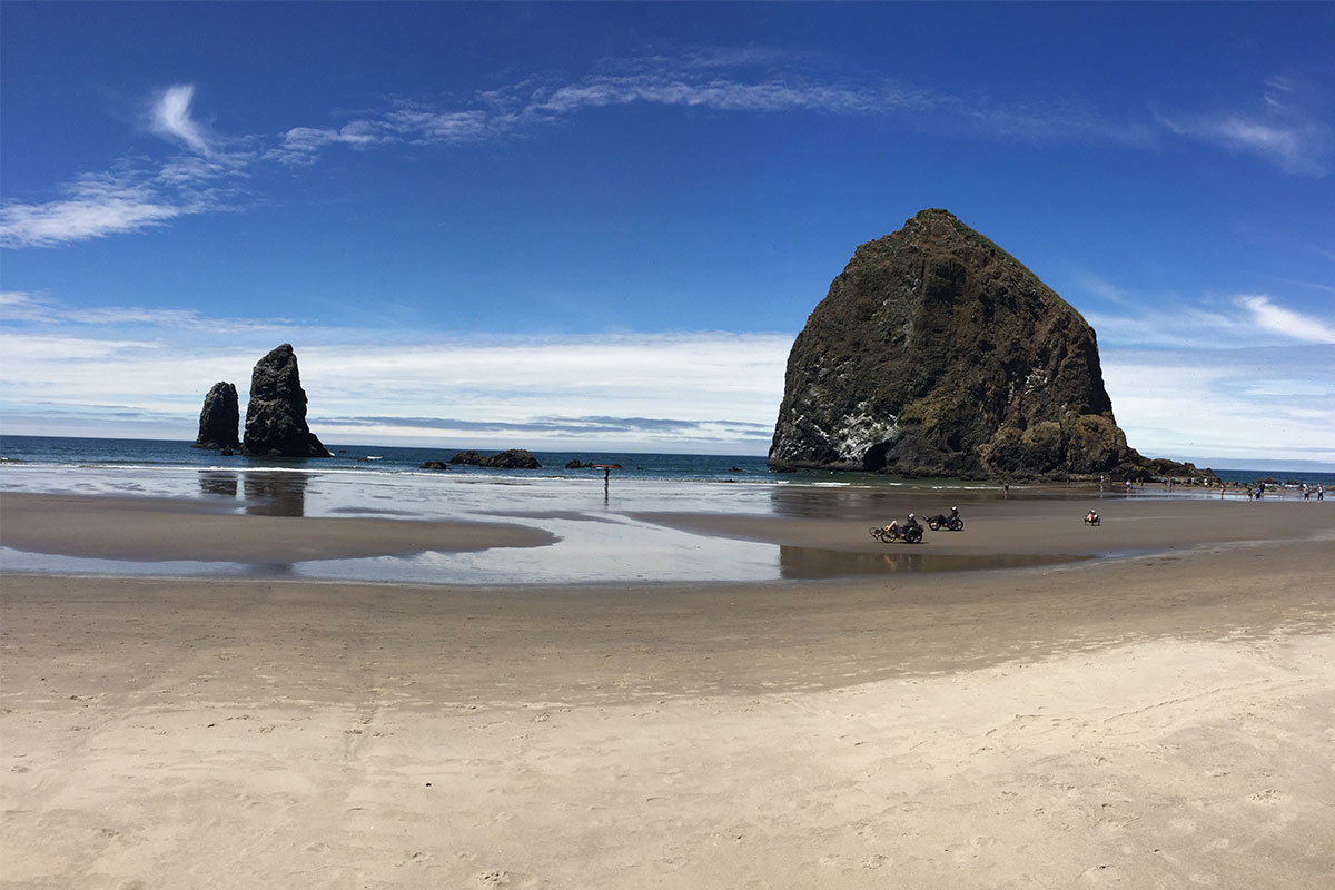 Der bombastische Haystack Rock am Cannon Beach.