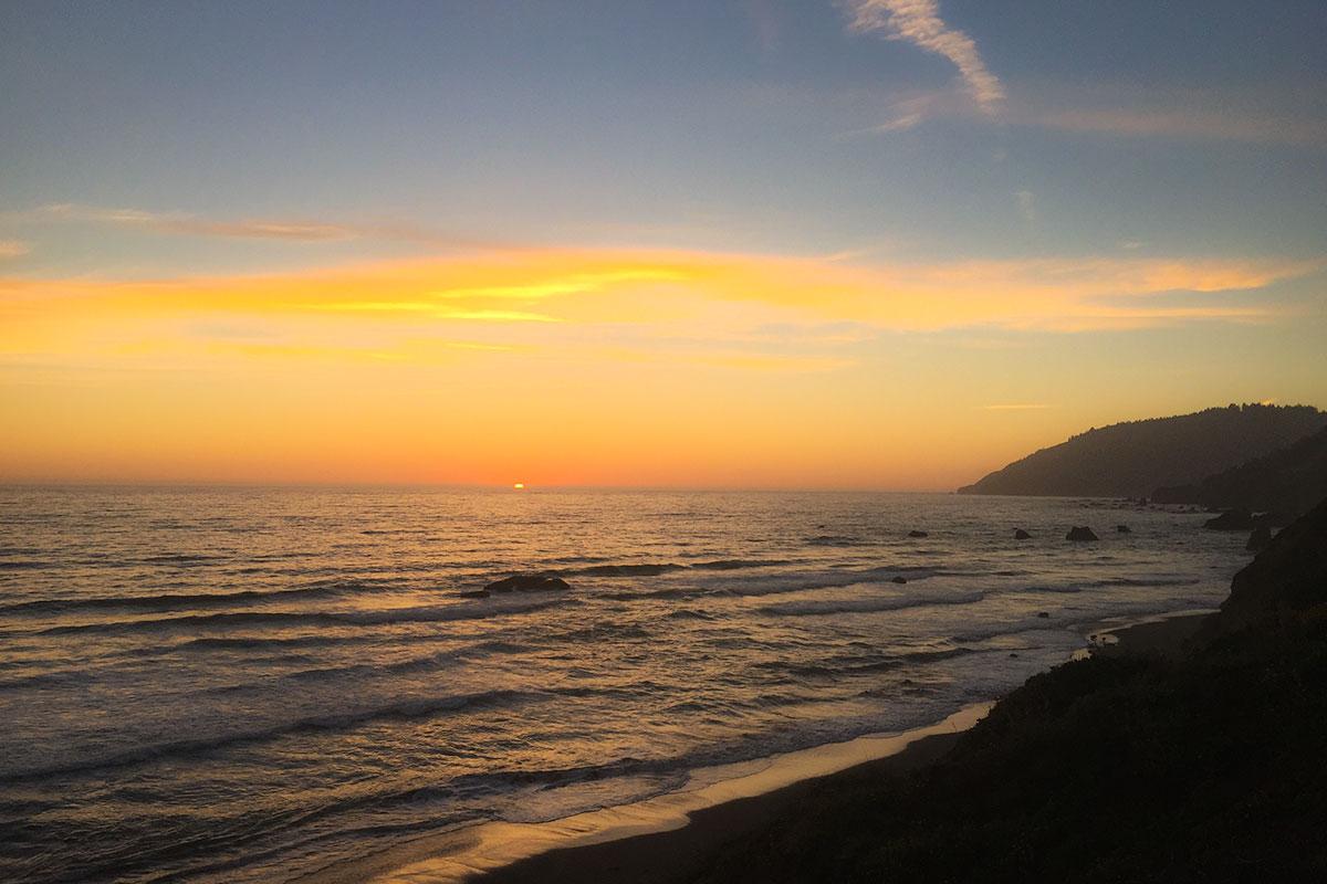 Sonnenuntergang am West Port Campground,