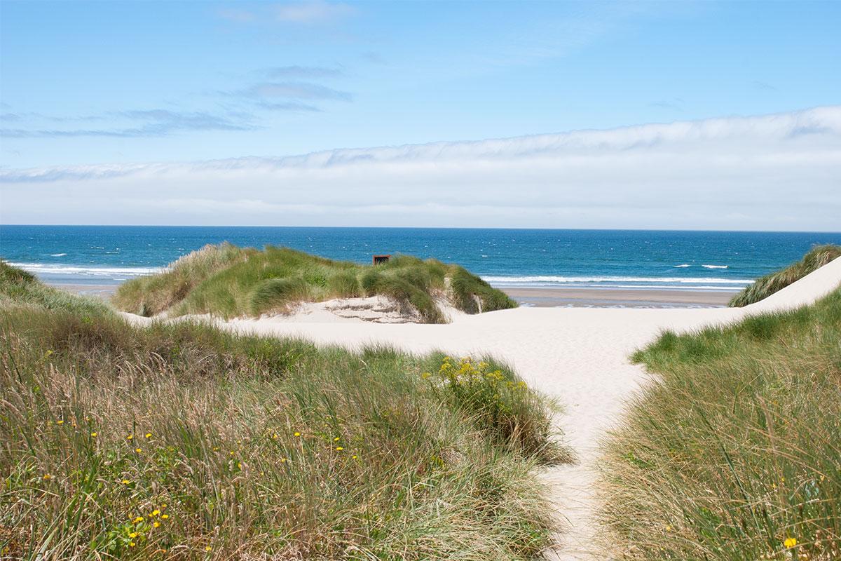 Am Nehalem Beach fühlten wir uns wie in Dänemark.