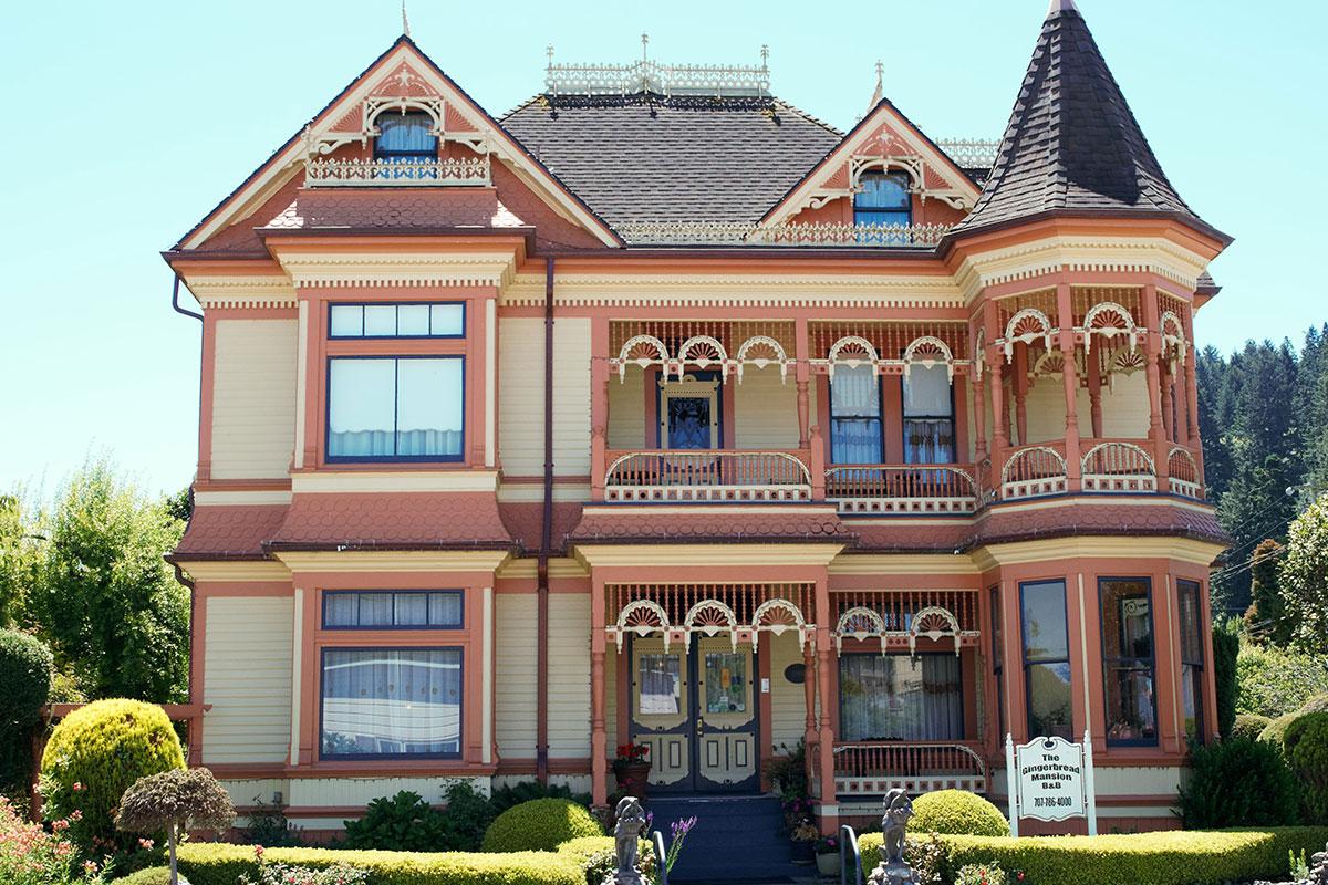 Eines der vielen schönen viktorianischen Häuser in Ferndale.