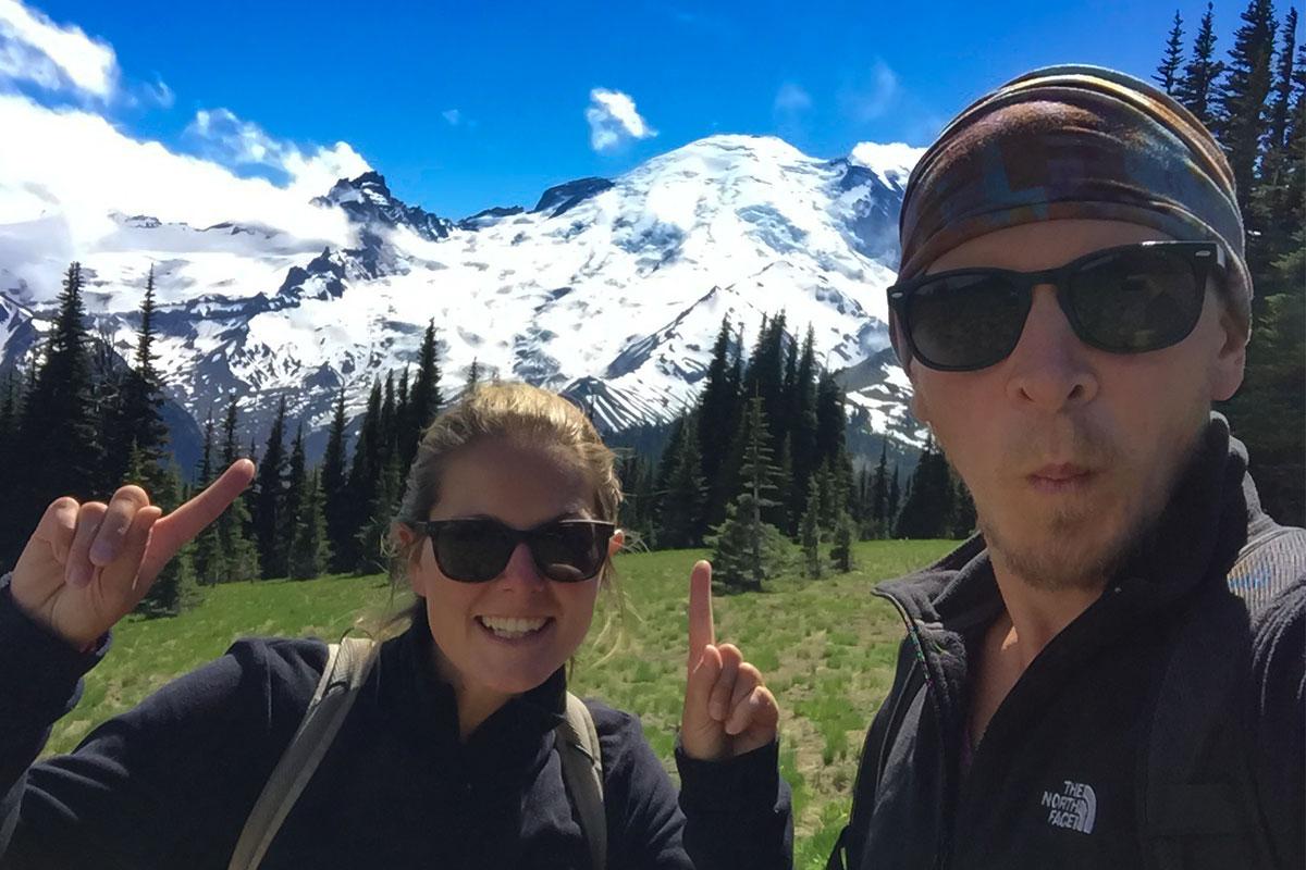 Das ist er, der Mt. Rainier.